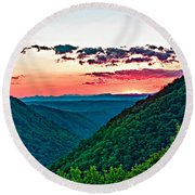 The Far Hills 2 Round Beach Towel