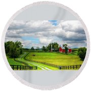 The Farm Round Beach Towel by Ronda Ryan