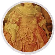 The Fat Lady Round Beach Towel by Gina Dsgn