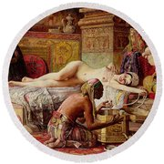 The Favorite Of The Harem Round Beach Towel