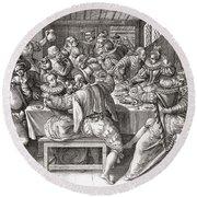 The Feast, After A 17th Century Engraving By N. De Bruyn.  From Illustrierte Sittengeschichte Vom Round Beach Towel
