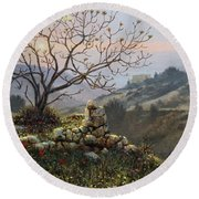 The Fig Tree   Mt Carmel Round Beach Towel
