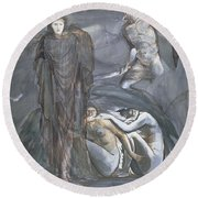 The Finding Of Medusa, C.1876 Round Beach Towel by Sir Edward Coley Burne-Jones