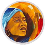 The First Mother Round Beach Towel