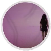 Entering A New Dimension  Round Beach Towel