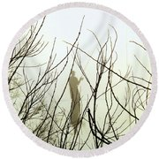 Round Beach Towel featuring the photograph The Fisherman by Robyn King