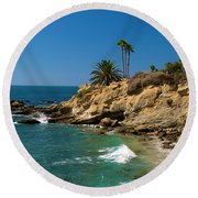 The Flag Round Beach Towel by Richard J Cassato