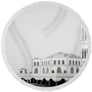 The Floating Mosque Round Beach Towel