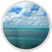 The Florida Keys Round Beach Towel
