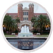 The Florida State University Round Beach Towel