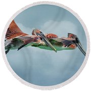 The Flying Pair Round Beach Towel