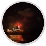 The Fog Rolls In Round Beach Towel by Jeff Folger