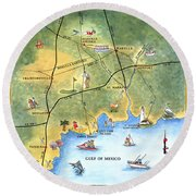 The Forgotten Coast St. Marks Round Beach Towel