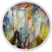 The Fornicatress  Round Beach Towel