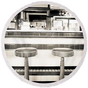 The Four Aces Diner Round Beach Towel
