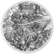 The Four Vengeful Angels Round Beach Towel