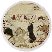 The Bayeux Tapestry Round Beach Towel by French School