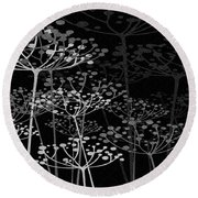 The Garden Of Your Mind Bw Round Beach Towel