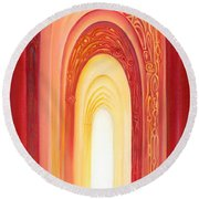 The Gate Of Light Round Beach Towel