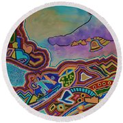 The Genie Is Out Of The Bottle Round Beach Towel by Barbara St Jean