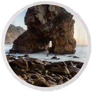 The Giant Of The Seas IIi Round Beach Towel