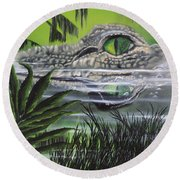 The Glades Round Beach Towel