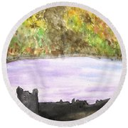 The Gloaming Round Beach Towel
