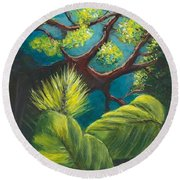 The Goblin Market Restaurant Tree Mt. Dora Round Beach Towel