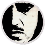 The Godfather Round Beach Towel by Dale Loos Jr