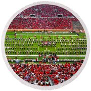 Round Beach Towel featuring the photograph The Going Band From Raiderland by Mae Wertz