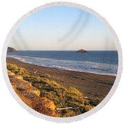 The Golden Coast Round Beach Towel