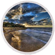 the golden hour during sunset at Israel Round Beach Towel