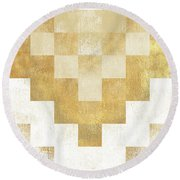 The Golden Path Round Beach Towel by Hugo Edwins