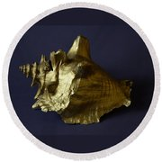 The Golden Shell Round Beach Towel