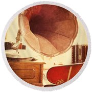 Round Beach Towel featuring the photograph The Golden Years by Amy Weiss