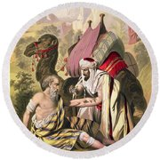 The Good Samaritan, From A Bible Round Beach Towel