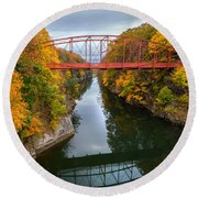 The Gorge Square Round Beach Towel