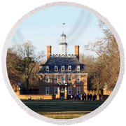 The Governor's Palace Round Beach Towel by Patti Whitten