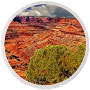 The Grand Canyon Dead Horse Point Round Beach Towel