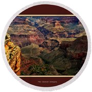 The Grand Canyon Round Beach Towel by Tom Prendergast