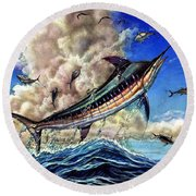 The Grand Challenge  Marlin Round Beach Towel