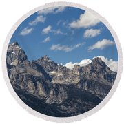 The Grand Tetons - Grand Teton National Park Wyoming Round Beach Towel