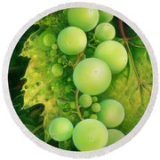 The Grapes Round Beach Towel