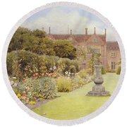 The Grass Walk, Helmingham Hall, 1892 Round Beach Towel