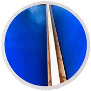 The Great Cross Of St. Augustine - Mission Nombre De Dios Round Beach Towel