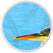 The Great One - Blue Heron By Sharon Cummings Round Beach Towel by Sharon Cummings