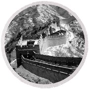 The Great Wall Of China Round Beach Towel by Sebastian Musial