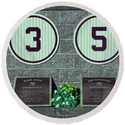 The Greatest Yankees Round Beach Towel by Allen Beatty