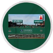 The Green Monster 99 Round Beach Towel by Tom Prendergast
