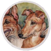 The Greyhounds Round Beach Towel